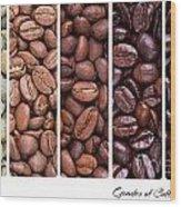 Grades Of Coffee Roasting Wood Print by Jane Rix