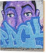 Graffiti Art Santa Catarina Island Brazil Wood Print by Bob Christopher