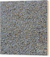 Grainy Sand Wood Print by Michael Mooney