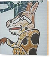 Gran Jaguar Iv Wood Print by Juan Francisco Zeledon