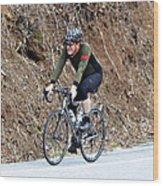 Grand Fondo Rider Wood Print by Susan Leggett
