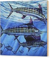 Grand Slam Lure And Tuna Wood Print by Terry Fox