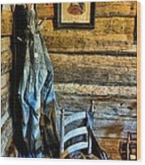 Grandpa's Closet Wood Print by Jan Amiss Photography
