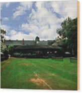Grass Courts At The Hall Of Fame Wood Print by Michelle Calkins