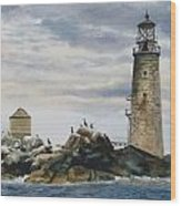 Graves Light House Wood Print by Karol Wyckoff