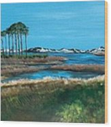Grayton Beach State Park Wood Print by Racquel Morgan