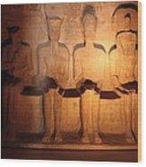 Great Gods Of Temple Wood Print by Anze Polovsak