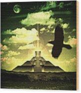 Great Mayan Dream Wood Print by Milton Thompson