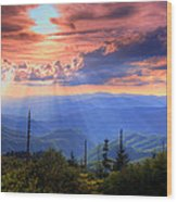 Great Smoky Mountains  Wood Print by Doug McPherson