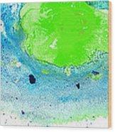Green Blue Art - Making Waves - By Sharon Cummings Wood Print by Sharon Cummings