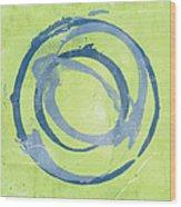 Green Blue Wood Print by Julie Niemela