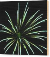 Green Lights Up The Sky Wood Print by Cynthia N Couch