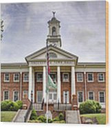 Greeneville Town Hall Wood Print by Heather Applegate