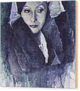 Greta Garbo Wood Print by Yuriy  Shevchuk