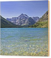 Grinnel Lake Glacier National Park Wood Print by Rich Franco