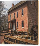 Grist Mill In Hobart Indiana Wood Print by Paul Velgos