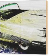 Grunge Retro Car Wood Print by David Ridley