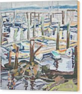 Guardians Of The Harbor Wood Print by Grace Keown