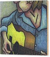 Guitar Man Wood Print by Kamil Swiatek