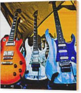 Guitar Trio Wood Print by David Patterson