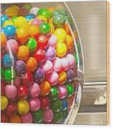 Gumball Machine Wood Print by Artist and Photographer Laura Wrede