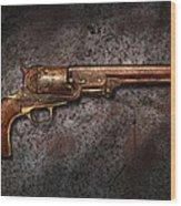 Gun - Colt Model 1851 - 36 Caliber Revolver Wood Print by Mike Savad