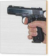 Gun Safety Wood Print by Charles Beeler