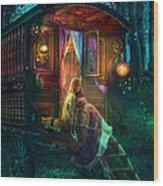 Gypsy Firefly Wood Print by Aimee Stewart