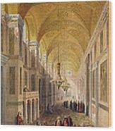 Haghia Sophia, Plate 2 The Narthex Wood Print by Gaspard Fossati