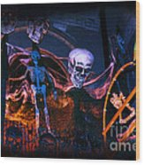 Halloween Ghost Party Wood Print by Charline Xia