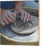 Hand Of  Master  Art Festival  Chicago  Usa  Wood Print by Oleksandr Koretskyi