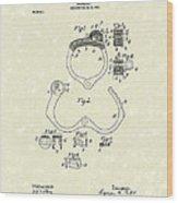 Handcuff 1899 Patent Art Wood Print by Prior Art Design