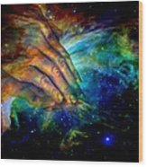 Hands Of Creation Wood Print by Evelyn Patrick