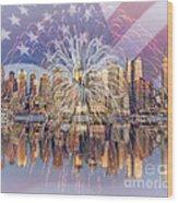 Happy Birthday America Wood Print by Susan Candelario