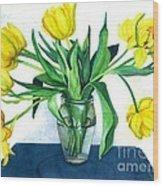 Happy Spring Wood Print by Barbara Jewell