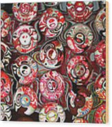 Hard Candies Wood Print by Wendy J St Christopher