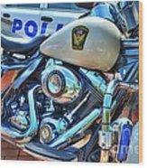 Harleys In Cincinnati 2 Wood Print by Mel Steinhauer