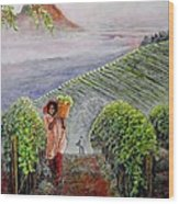 Harvest At Dawn Wood Print by Michael Durst