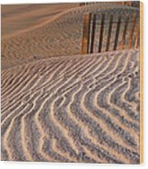 Hatteras Dunes Wood Print by Steven Ainsworth