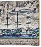 Hdr Tall Ship Boat Pirate Sail Sailing Photography Gallery Art Image Photo Buy Sell Sale Picture  Wood Print by Pictures HDR