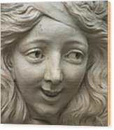 Head Of Polina Wood Print by A Morddel