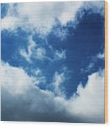 Heart In The Sky Wood Print by Anna Villarreal Garbis