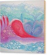 Heart Land Wood Print by Mademoiselle Francais