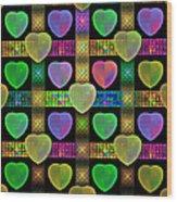 Hearts Wood Print by Sandy Keeton
