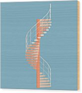 Helical Stairs Wood Print by Peter Cassidy