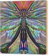 Her Heart Has Wings - Spiritual Art By Sharon Cummings Wood Print by Sharon Cummings