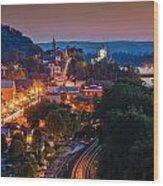 Hermann Missouri - A Most Beautiful Town Wood Print by Tony Carosella