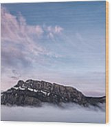 High Above The Clouds Wood Print by Jon Glaser
