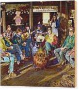 Hillbilly Happy Hour Wood Print by Anne Goetze