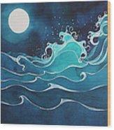 Hina I Ka Malama Drum Wood Print by Lynne Baur